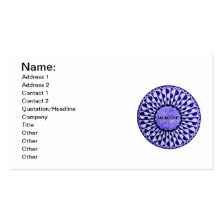 Imagine Mosaic, Strawberry Fields, Central Park 01 Double-Sided Standard Business Cards (Pack Of 100)