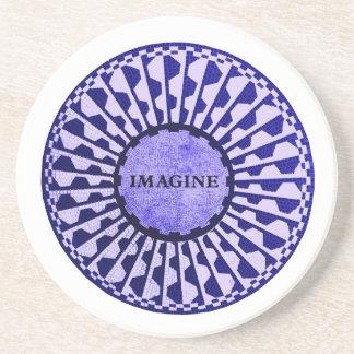 Imagine Mosaic, Strawberry Fields, Central Park 01 Sandstone Coaster