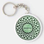 Imagine Mosaic, Strawberry Fields, Central Park 02 Basic Round Button Keychain
