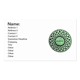 Imagine Mosaic, Strawberry Fields, Central Park 02 Double-Sided Standard Business Cards (Pack Of 100)