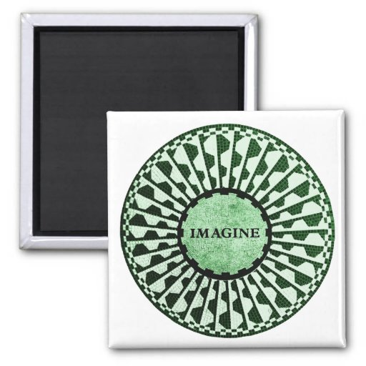Imagine Mosaic, Strawberry Fields, Central Park 02 2 Inch Square Magnet