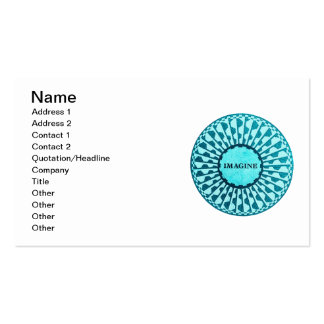 Imagine Mosaic, Strawberry Fields, Central Park 04 Double-Sided Standard Business Cards (Pack Of 100)