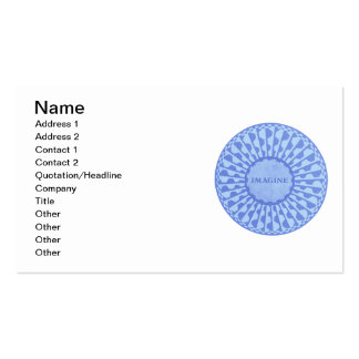 Imagine Mosaic, Strawberry Fields, Central Park 06 Double-Sided Standard Business Cards (Pack Of 100)