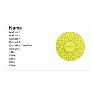 Imagine Mosaic, Strawberry Fields, Central Park 07 Double-Sided Standard Business Cards (Pack Of 100)