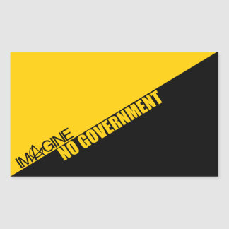 Imagine No Government Rectangle Stickers