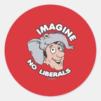 Imagine No Liberals Classic Round Sticker