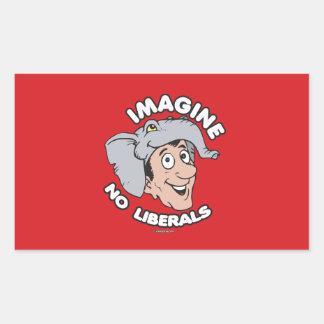 Imagine No Liberals Rectangular Sticker