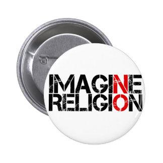 Imagine No Religion 2 Inch Round Button