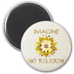 Imagine No Religion 2 Inch Round Magnet