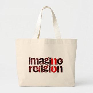 Imagine No Religion Tote Bags
