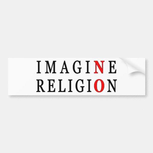 Imagine No Religion Bumper Sticker