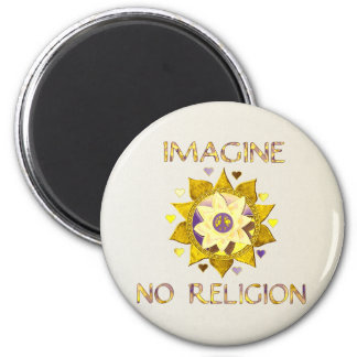 Imagine No Religion Fridge Magnets