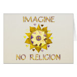 Imagine No Religion Greeting Card