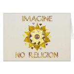 Imagine No Religion Greeting Cards