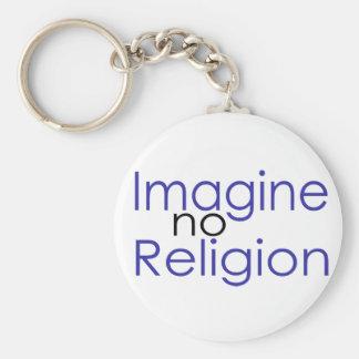 Imagine no Religion Key Chain