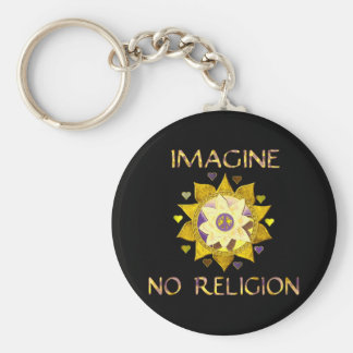 Imagine No Religion Keychain