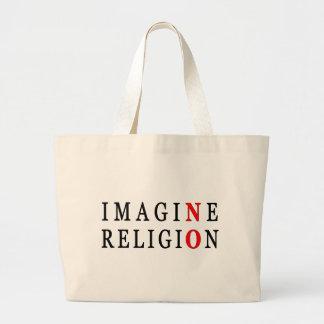Imagine No Religion Large Tote Bag