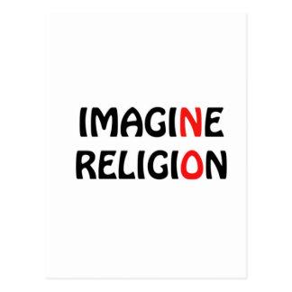 Imagine No Religion Peace Design Postcard