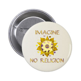 Imagine No Religion Pinback Button