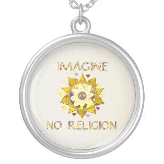 Imagine No Religion Round Pendant Necklace