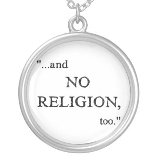 Imagine No Religion Silver Plated Necklace