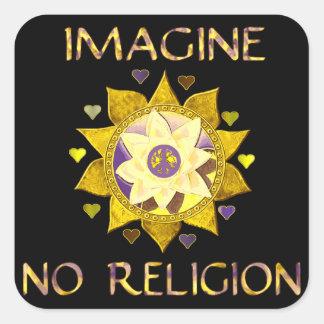 Imagine No Religion Square Sticker