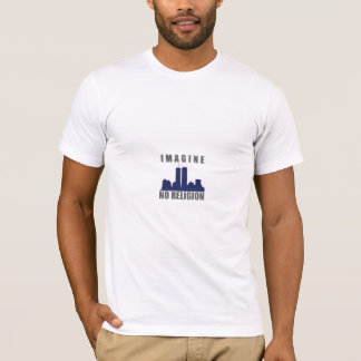 Imagine No Religion twin towers sillouette T-Shirt