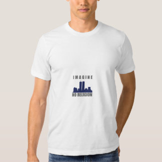 Imagine No Religion twin towers sillouette T Shirts
