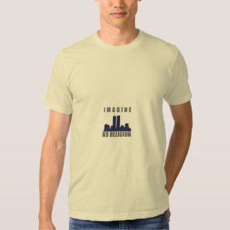 Imagine No Religion twin towers sillouette Tee Shirt