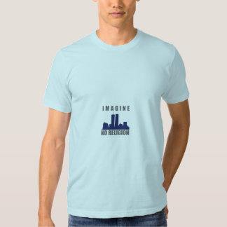 Imagine No Religion twin towers sillouette Tshirt