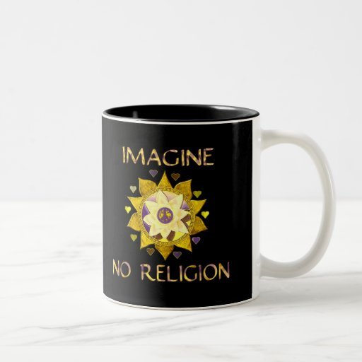 Imagine No Religion Two-Tone Coffee Mug