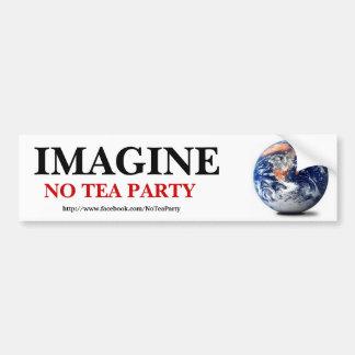 Imagine No Tea Party Car Bumper Sticker