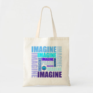 'Imagine Peace' Blue Tote Bag
