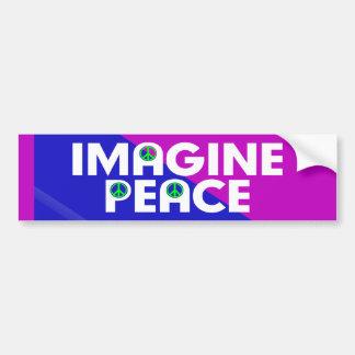imagine peace bumper sticker
