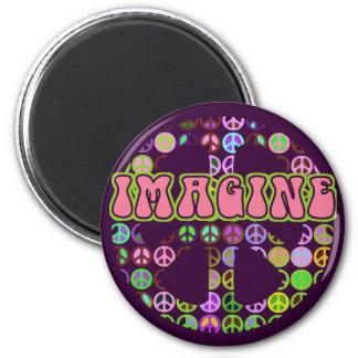 Imagine Peace Fridge Magnet