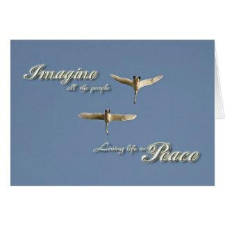 Imagine Peace Greeting Card