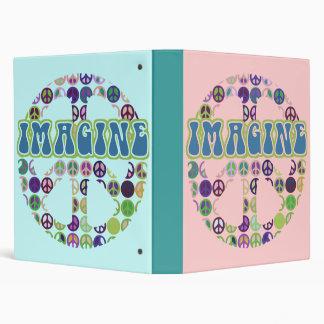 Imagine Peace Notebook 3 Ring Binder