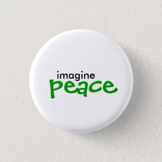 imagine, peace pinback button
