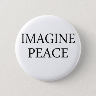 Imagine Peace Pinback Button