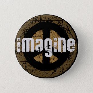 Imagine peace pinback button