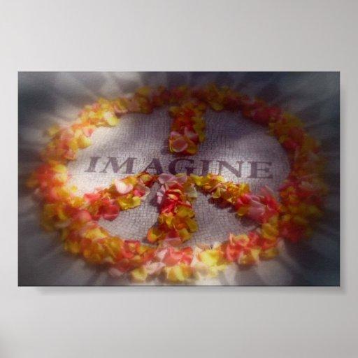 Imagine peace poster