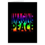 IMAGINE PEACE RAINBOW CARD