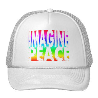 IMAGINE PEACE RAINBOW TRUCKER HAT
