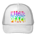 IMAGINE PEACE RAINBOW MESH HATS