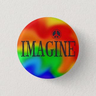 Imagine Peace Rainbow Tie-Dye button