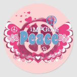 Imagine Peace Round Sticker