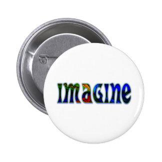Imagine Pinback Button
