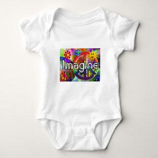 """Imagine"" Psychadelic 70's Gifts Baby Bodysuit"