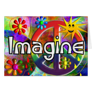 """Imagine"" Psychadelic 70's Gifts Card"