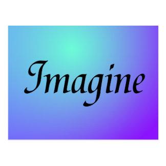 Imagine Purple Postcard